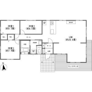 3LDK {building type} in Karuizawa(oaza) - Kitasaku-gun Karuizawa-machi Floorplan