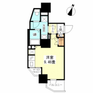 1R Mansion in Kudamminami - Chiyoda-ku Floorplan