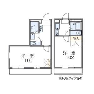 1K Mansion in Fujiminohigashi - Fujimi-shi Floorplan