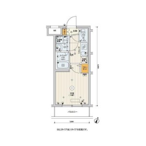 1K Mansion in Saginuma - Kawasaki-shi Miyamae-ku Floorplan