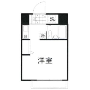 1K Mansion in Hatagaya - Shibuya-ku Floorplan