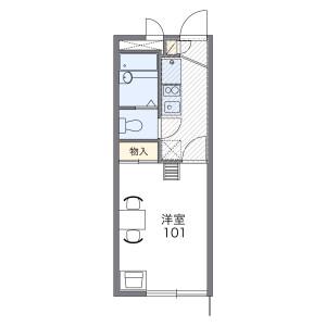 世田谷區桜丘-1K公寓 房間格局