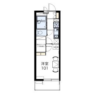 1K Mansion in Fujiwara - Funabashi-shi Floorplan