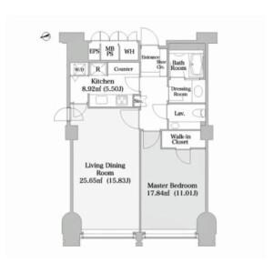 1LDK Mansion in Nishikanda - Chiyoda-ku Floorplan