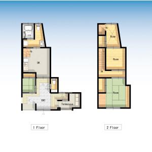 2LDK House in Asakusa - Taito-ku Floorplan