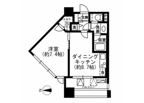 1LDK マンション 新宿区 間取り