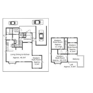 4SDK {building type} in Oginosato - Otsu-shi Floorplan