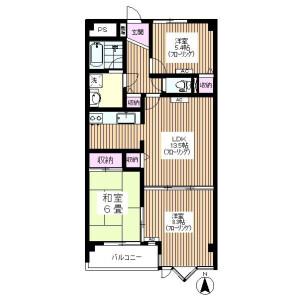 練馬區北町-3LDK公寓大廈 房間格局