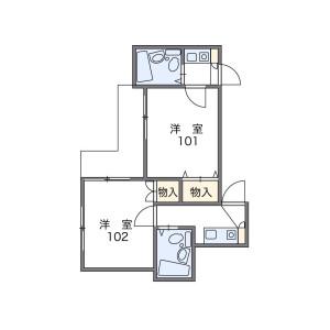 1K Apartment in Nishisugamo - Toshima-ku Floorplan
