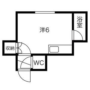 1R Apartment in Kita27-johigashi - Sapporo-shi Higashi-ku Floorplan