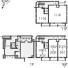 在港区内租赁1R 公寓大厦 的 Layout Drawing