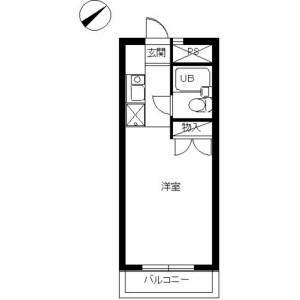 1R Mansion in Fuchinobehoncho - Sagamihara-shi Chuo-ku Floorplan