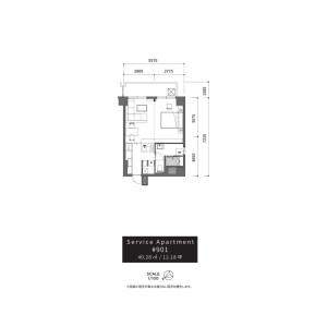 澀谷區 - 服務式公寓 房間格局