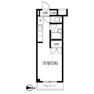 1R Mansion in Okamura - Yokohama-shi Isogo-ku Floorplan