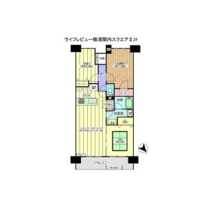 3LDK {building type} in Chojamachi - Yokohama-shi Naka-ku Floorplan
