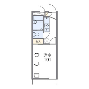 1K Apartment in Kobukuroya - Kamakura-shi Floorplan
