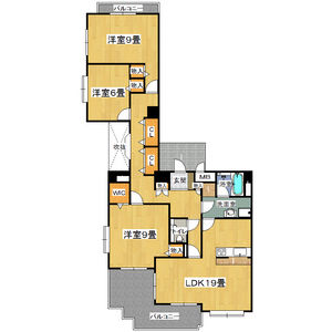 3LDK Mansion in Oyodominami - Osaka-shi Kita-ku Floorplan