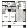 2LDK Apartment to Buy in Minato-ku Floorplan
