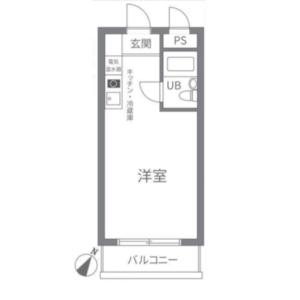 1R {building type} in Oharacho - Itabashi-ku Floorplan