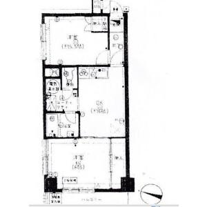 2DK {building type} in Kakinokizaka - Meguro-ku Floorplan