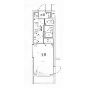 1K Mansion in Kamimeguro - Meguro-ku Floorplan