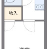 1K Apartment to Rent in Fukuoka-shi Chuo-ku Floorplan