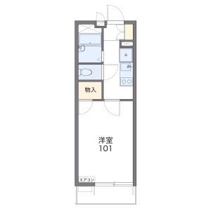 1K Mansion in Nishinakasu - Fukuoka-shi Chuo-ku Floorplan