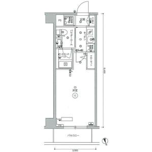 1K Mansion in Todoroki - Setagaya-ku Floorplan