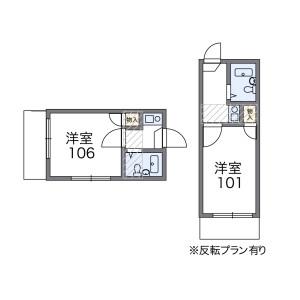 1K Apartment in Onogi - Nagoya-shi Nishi-ku Floorplan