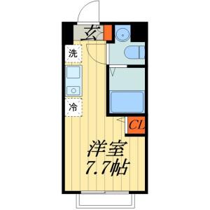 1R Mansion in Ohara - Saitama-shi Omiya-ku Floorplan