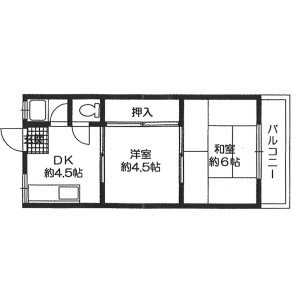 2DK Apartment in Dogashiba - Osaka-shi Tennoji-ku Floorplan