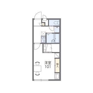 福岡市南区井尻-1K公寓 楼层布局