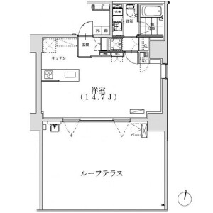 1R Apartment in Hiroo - Shibuya-ku Floorplan