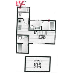 1R Apartment in Nishitobecho - Yokohama-shi Nishi-ku Floorplan