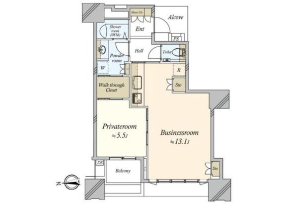 2K Apartment to Buy in Chuo-ku Floorplan