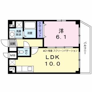 1LDK Mansion in Kamata - Ota-ku Floorplan