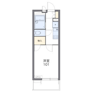1K Mansion in Kamikoshima - Nagasaki-shi Floorplan
