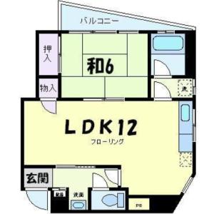 1LDK Mansion in Funabori - Edogawa-ku Floorplan