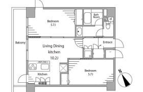 2LDK Apartment in Kaigan(1.2-chome) - Minato-ku