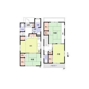 5LDK {building type} in Chodo - Higashiosaka-shi Floorplan