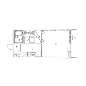 1K Apartment in Jingumae - Shibuya-ku Floorplan