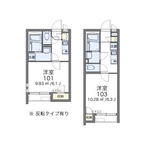 1K Apartment in Kamiochiai - Shinjuku-ku Floorplan