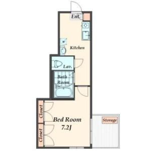 1K Apartment in Sakamachi - Shinjuku-ku Floorplan