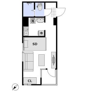 1R Apartment in Akasaka - Minato-ku Floorplan