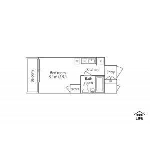1K Mansion in Uwamachi - Yokosuka-shi Floorplan