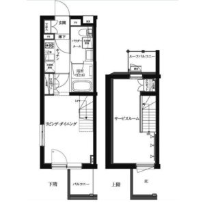 1LDK Mansion in Shimoma - Setagaya-ku Floorplan