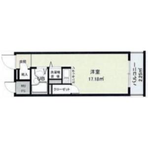 1R {building type} in Eharacho - Nakano-ku Floorplan