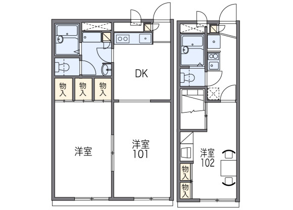 1K Apartment to Rent in Hirakata-shi Floorplan