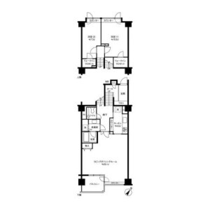 2LDK Mansion in Yoyogi - Shibuya-ku Floorplan