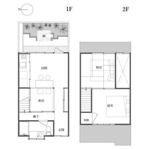 3LDK {building type} in Kadowakicho - Kyoto-shi Higashiyama-ku Floorplan